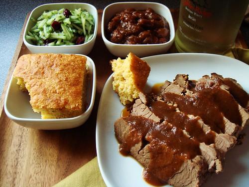 Barbecued Beef Brisket Dinner