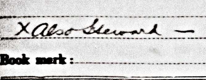 Lewis Stewart Civil War Return Record Notation