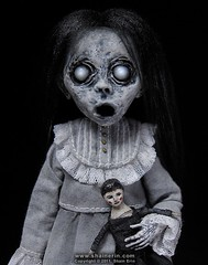 Christina - Ghost Art Doll Figurine (Shain Erin) Tags: sculpture cute art child mixedmedia ghost goth creepy etsy artdoll apparition ghostdoll shainerin