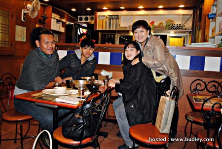 with manager-fizie & Korean Friends in one of restaurant in Woncongdong