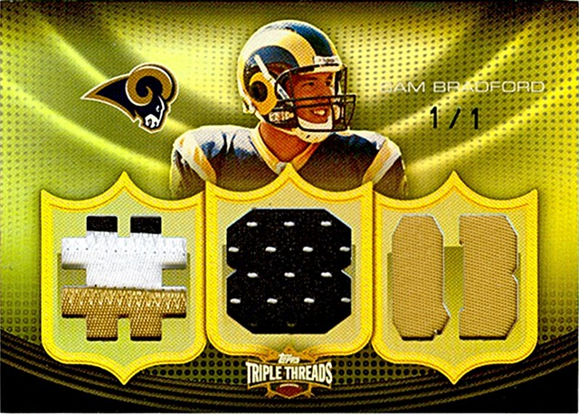 2010 Topps Triple Threads SAM BRADFORD 1/1