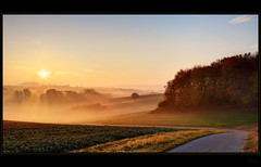 Different day (Kemoauc) Tags: autumn light fog sunrise licht nikon nebel herbst sonnenaufgang hdr topaz promote d90 photomatix nikond90 kemoauc