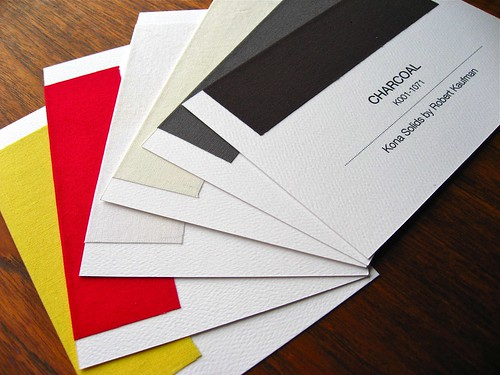 "Swatch Cards, 4"" x 6"""