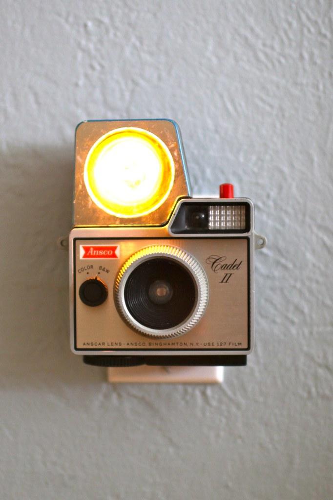 Vintage Camera Nightlight - Ansco Cadet II w/flash