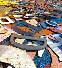 alphabets (misterbisson) Tags: colors metal letters alphabet alphabets