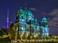berlin cathedral (North Face) Tags: city light berlin church festival architecture night canon germany eos lights design colorful europe cathedral nacht dom illumination stadt 7d hdr berliner museumsinsel geburt lustgarten sehenswrdigkeit 2011 fol schwere efs1585mm