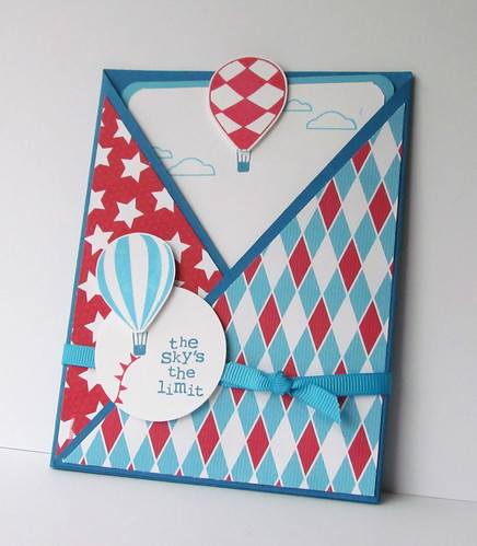 Up and Away Crisscross Card by Andrea G71