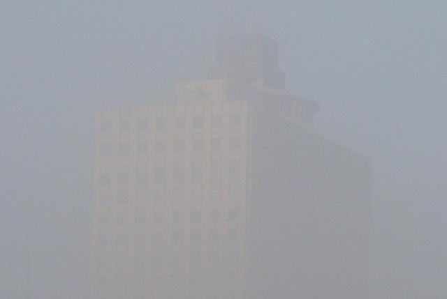 Memphis: 100 North Main in the fog