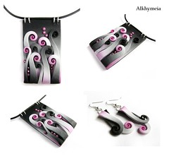 Natural Life in Pink and Black   PCI PAW 9_52 (Alkhymeia) Tags: pink white black art liberty necklace italia artistic handmade spirals unique magic artesanal free jewelry bijoux jewellery polymerclay fimo fairy fantasy clay wicked sculpey handcrafted swirls earrings unusual bud fucsia nero pendant pci jewel spirale artesania wiccan artistico elvish polymer sulmona colgante neckpiece pendente premo collana bijouterie hechoamano arcilla artigianato fuxia ciondolo orecchini halskette artigianale spirali bizuteria handarbeiten polimerica gioielleria bigiotteria fatato pastasintetica polimerkil bigiotterie alkhymeia polimerska polymerclayitalia 52pawpci