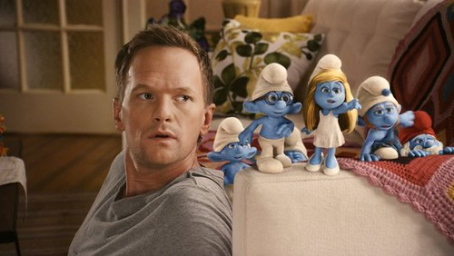 Still from the Smurf movie