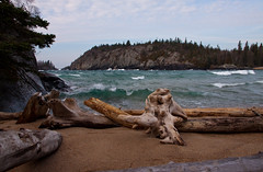 Driftwood at Horseshoe Bay, Pukaskwa National Park (KarenR-TB) Tags: park ontario beach waves driftwood national horseshoebay lakesuperior pukaskwa