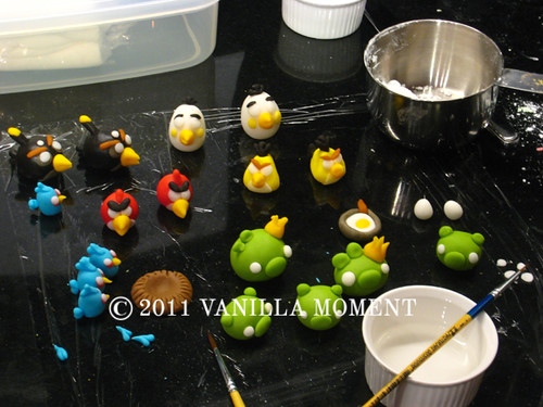 Angry birds sugar models: the assembly