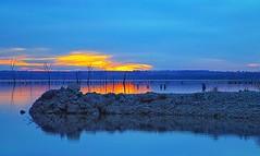 Breakwater (Kansas Poetry (Patrick)) Tags: sunset lawrencekansas clintonlake patrickemerson cooncreekboatramp nancycaresfortiredpatrick