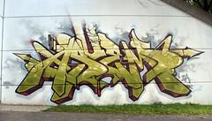 GESER x ASUEM (GESER 3A) Tags: street urban green art rock metal graffiti punk paint spray 3a crew straightedge belton ges molotow geser asuem