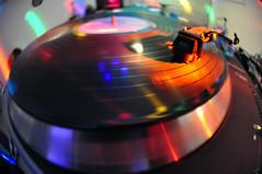 Spinning TurnTable (Steve Rota) Tags: music lights nikon dj texas houston turntable fisheye lp nikkor dslr d90 nikon105mm nikondslr cs5 nikond90 nikon105mmfisheyelens adobecs5 spinningturntable