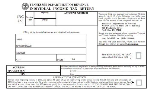 TN Income Tax form