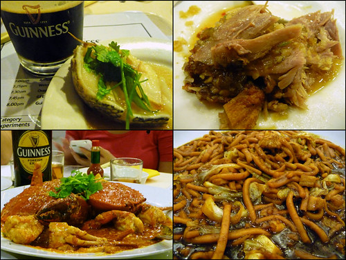 Guinness paired with Chinese food - Hakka restaurant food