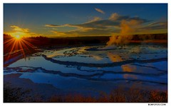 Night Sky | Yellowstone / HDR_ Fountain Geyser (Robert Howell _) Tags: sunset nationalpark yellowstone geyser hdr fountaingeyser nikond700 roberthowell nightskylandscapes flickrbobphotos roberthowellphotography