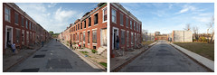 Perlman Place, Before and After City-Initiated Demolition (metroblossom) Tags: playing building abandoned buildings children teens maryland before demolition baltimore after talking eastside residential derelict demolished rowhouse rowhouses rephotography historicdistrict remaining img0798 img4672 img1464 repeatphotography perlmanplace formerlyhistoricdistrict