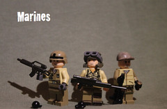 lego marines (Thœ) Tags: marine lego assault sniper minifigs custom engineer tactical recon brickarms