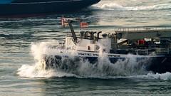 Atlantic Perfromer bow wave (MarkCantPark) Tags: ocean sea holland water netherlands canon boat is rotterdam waves sailing ship wave vessel atlantic maritime bow captain 7d l tug 300 nautical van mate performer current f40 hoek