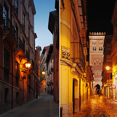 Teruel existe. (www.juliadavilalampe.com) Tags: street light urban espaa tower colors spain getty lamps nicht teruel gettyimages mudjar aragn dptico chaulafanita juliadavila juliadavilalampe gettyimagesiberiaq12012