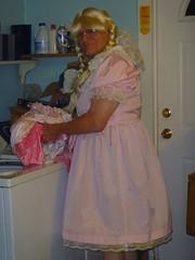 "Richard Moore Is ""Sissy Petticoat Brenda"" (Petticoat Brenda) Tags: pink cute panties princess cd laundry sissy crossdress showoff petticoat maryjaneshoes"