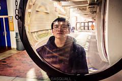 Kevin - Profile, Harvard (Gamy Wong (ASQUALL)) Tags: portrait distortion male goofy canon asian daylight magnifyingglass harvarduniversity naturallighting lightroom4 canonrebelt3i