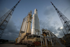 Ariane 5 flight VA205 and ATV Edoardo Amaldi ready for launch (europeanspaceagency) Tags: esa kourou csg ariane5 europeanspaceagency atv3 europesspaceport va205