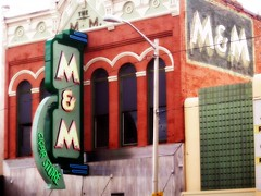 The M&M Cigar Store (BlackAndBlueBeauty) Tags: building sign store montana butte cigar uptown mm