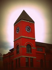 Clock Tower (BlackAndBlueBeauty) Tags: red tower clock montana butte uptown advanced dermatology