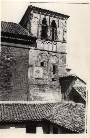 Torre mudéjar de San Pedro Mártir a principios del siglo XX