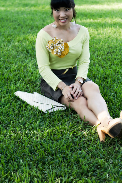 etta grace double dip mustard corsage the limited lime boatneck tee brown suede skirt steve madden pleasant mk5430 aldo iezzi jewelmint forever yours bracelet