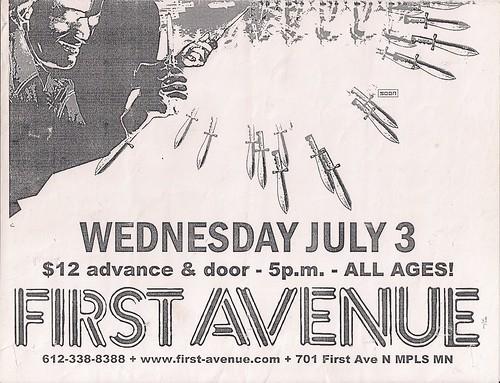 07/03/02 The Melvins/Jucifer @ First Avenue, Minneapolis, MN (Bottom)