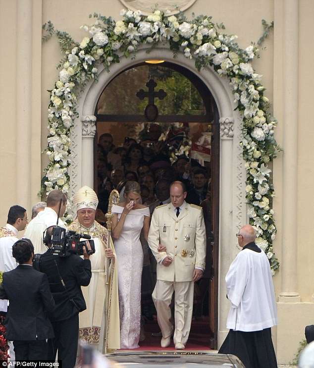 The Princess bride  Monaco  Charlene and Prince Albert ceremony The Princess bride  Monaco  Charlene and Prince Albert ceremony  12