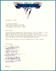 Van Halen document with Signatures (Taylor Player) Tags: california lighting ca music man david alex rose festival rock electric ball roth drums us los concert angeles bass guitar live peavey rude marshall edward fender lee 80s 70s males roll while eddie drumming van pasadena 1970s backstage ernie floyd performers 1980s halen drummers ludwig kramer cymbals amps groupies wolfgang ibanez ampeg charvel paiste evh yamah ebmm