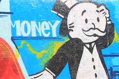 Money! (ToGa Wanderings) Tags: business venice beach california usa money monopoly graffiti man art wall mural west coast los angeles culture american photography summer economics spend cash currency rich fortune asset prosperity salary remuneration game wealthy affluent prosperous poor poverty modern world