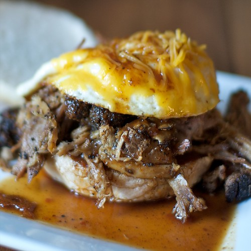 Pulled Pork and Egg Breakfast