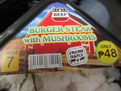Mini Stop's Burger Steak with Mushrooms