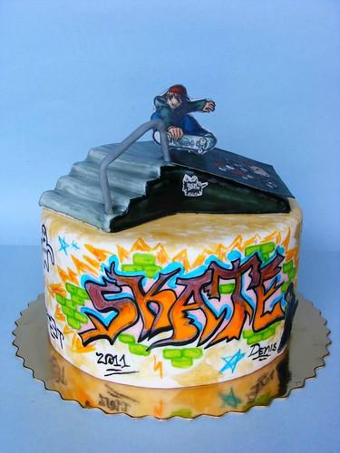 Skate cake by bubolinkata