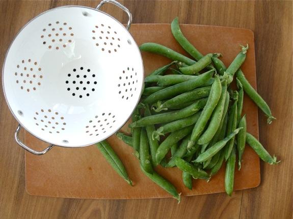 farmers market peas pasta 001