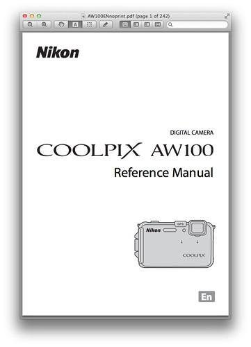 Nikon aw100 user manual.