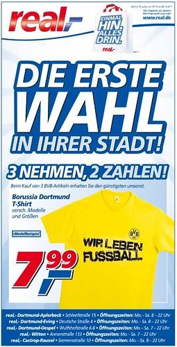 real-Werbung: Die erste Wahl in Ihrer Stadt! (3 BVB-Artikel zum Preis von 2)
