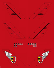 Red Zephyr Decals (JonHall18) Tags: plane sticker aircraft decal skyfi dieselpunk dieselpulp