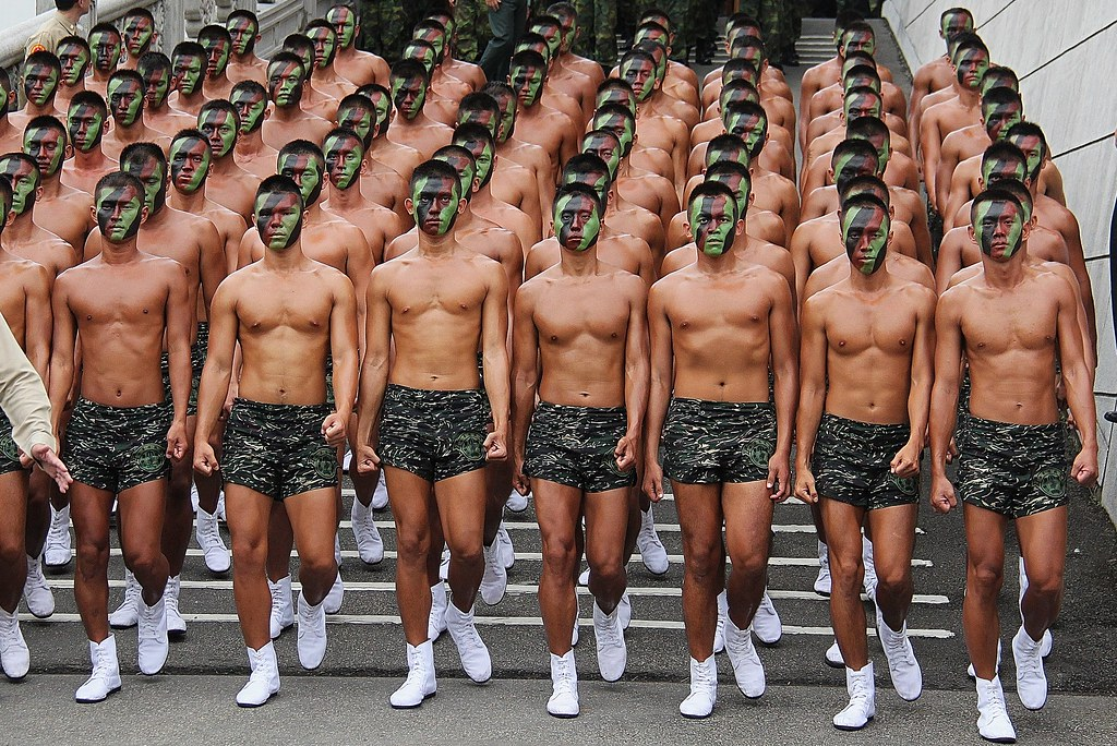 Hunk boy in army gay first time yes drill