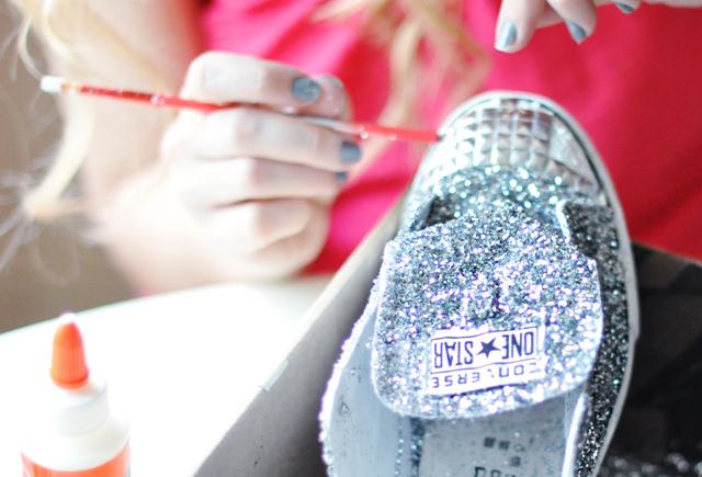 Glitter Sneaker DIY -  14