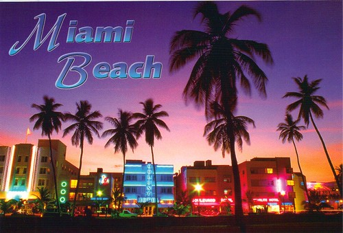 Brand new Miami Florida sunset postcard - available - a photo on Flickriver LD13