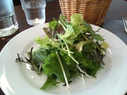 前菜はグリーンサラダ。