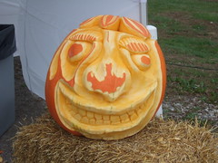 Carved Pumpkin at Farmer's Market