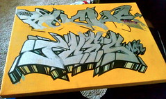 Ruche One & J.Ces One MCK (El Funky Taladro) Tags: county orange yellow graffiti canvas mck ruche ruches jces skiste